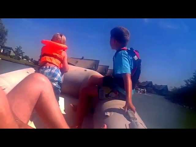 mit dem Motorboot auf dem IJsselmeer