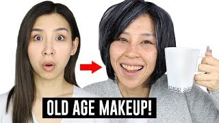 Old Age Makeup Transformation - Halloween