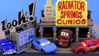 Cars 2 Radiator Springs Curio Shop playset Disney Pixar Mattel toys review by Blucollection