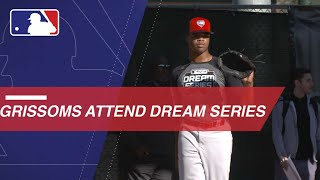 Former big leaguer Marquis Grissom, and his son, Grissom Jr., attend the Dream Series