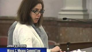 Ways & Means Committee   January 20, 2016