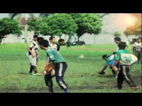 DUBSTEP FLAG FOOTBALL | Slow Motion