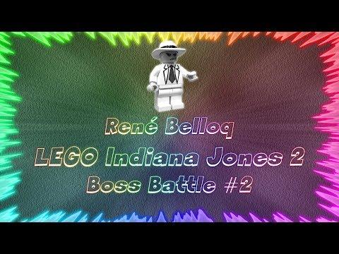 LEGO Indiana Jones 2 The Adventure Continues ★ Perfect Boss Battle #2 • René Belloq  