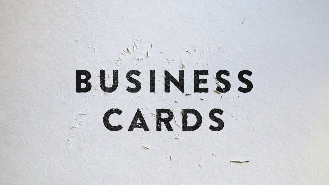 My Thoughts On Business Cards - Are They Important?