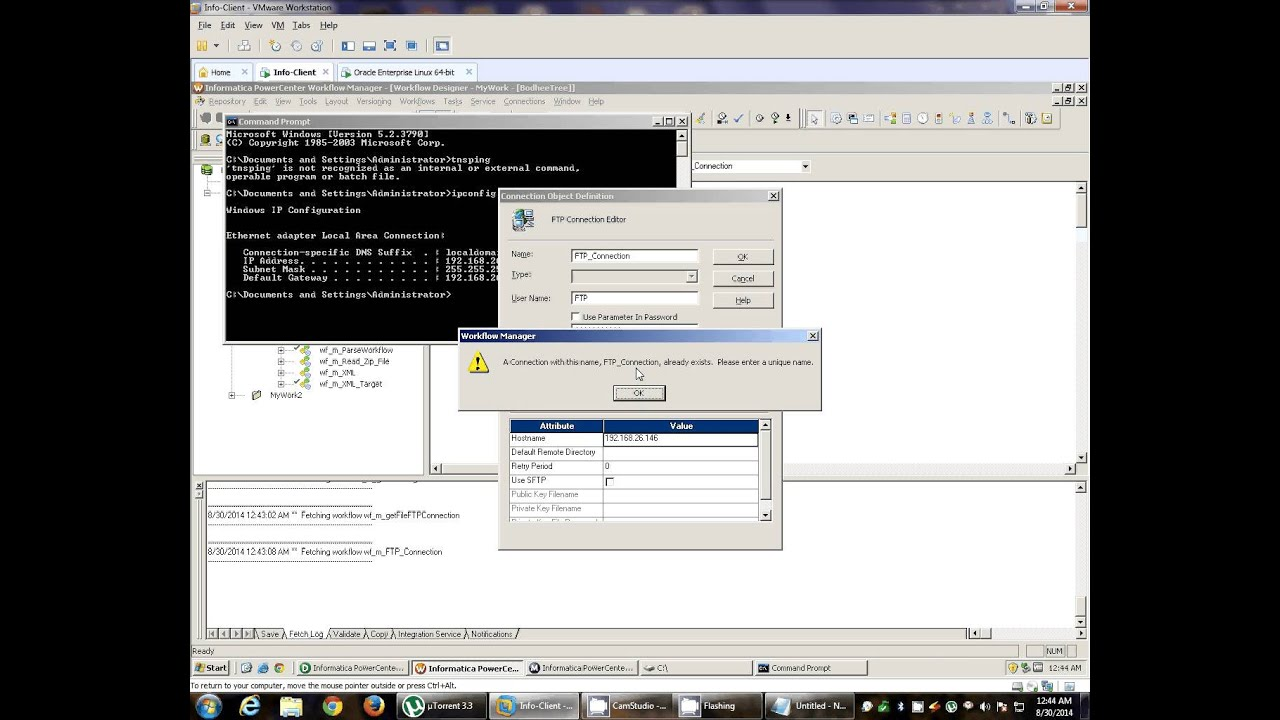 Read Remote File Using Informatica FTP Connection