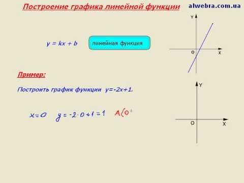 Видеоурок по математике  График линейной функции