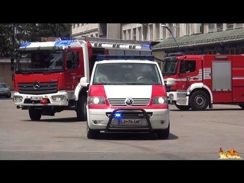 [Slovenia] Ljubljana Fire Response: Battalion Chief, Engine & Tanker turnout