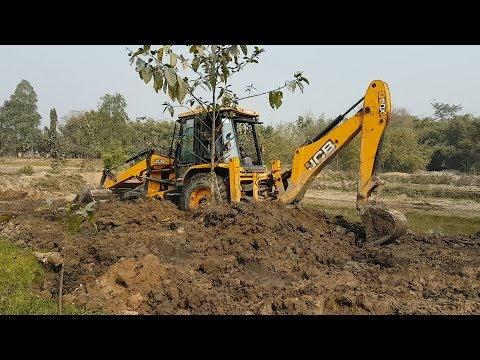 JCB Dozer Amazing Work in Muddy Place - JCB - JCB DIGGER VIDEO