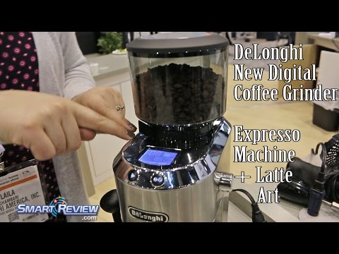 IHHS 2016  | *New DeLonghi Digital Coffee Grinder | Expresso Machine | Latte Art | Home Show
