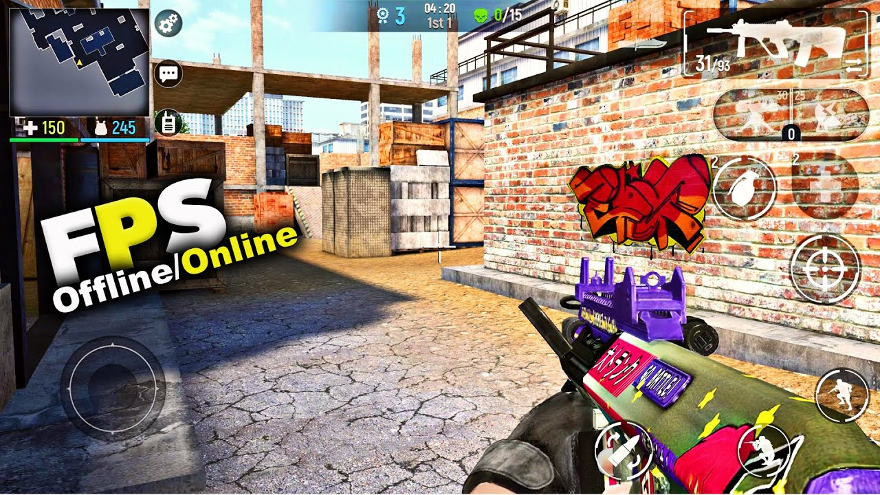 Top 10 Best Fps Games For Android Ios 2019 5 Offline 5 Online Youtube