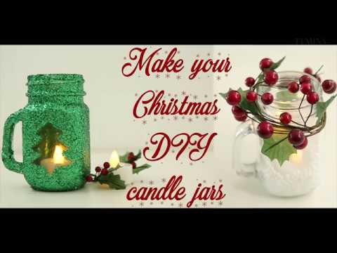 Make your own Christmas candle holders