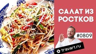 Салат с проростками бобов Китайская кухня ПП рецепт Проростки ТРАВАРТ Животворец Андрей Протопопов