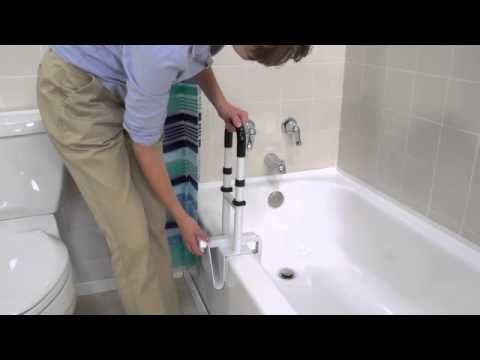 Bathroom Grab Bar Recommendations drive medical - clamp-on tub rail - youtube