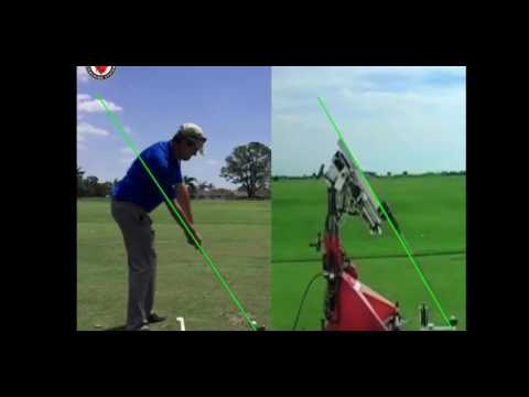 Iron Byron golf swing compared to Setup 4 Impact, Easiest golf swing to learn.
