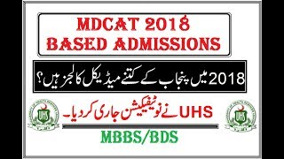 All Govt Medical Colleges Valid for MDCAT 2018 !! UHS New Announcement.