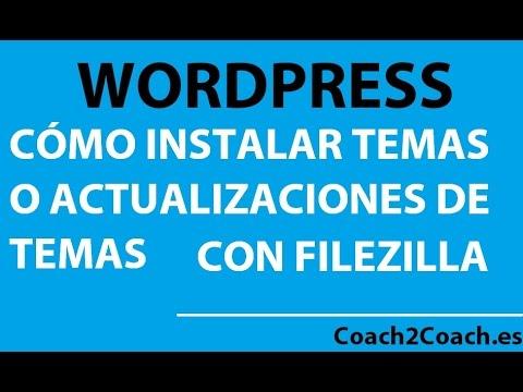 Como instalar temas de wordpress con filezilla 1 - YouTube