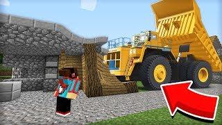 ЭТА ОГРОМНАЯ МАШИНА РАЗДАВИЛА МОЙ ДОМ В МАЙНКРАФТ 100 ТРОЛЛИНГ ЛОВУШКА Minecraft