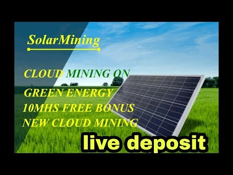 Mining site solarmining + live Deposit on site | 10msh free