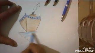 Yelkenli Gemi çizimi