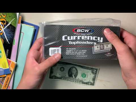 25 Pages Included Currency Collection Wallet//Album Kit