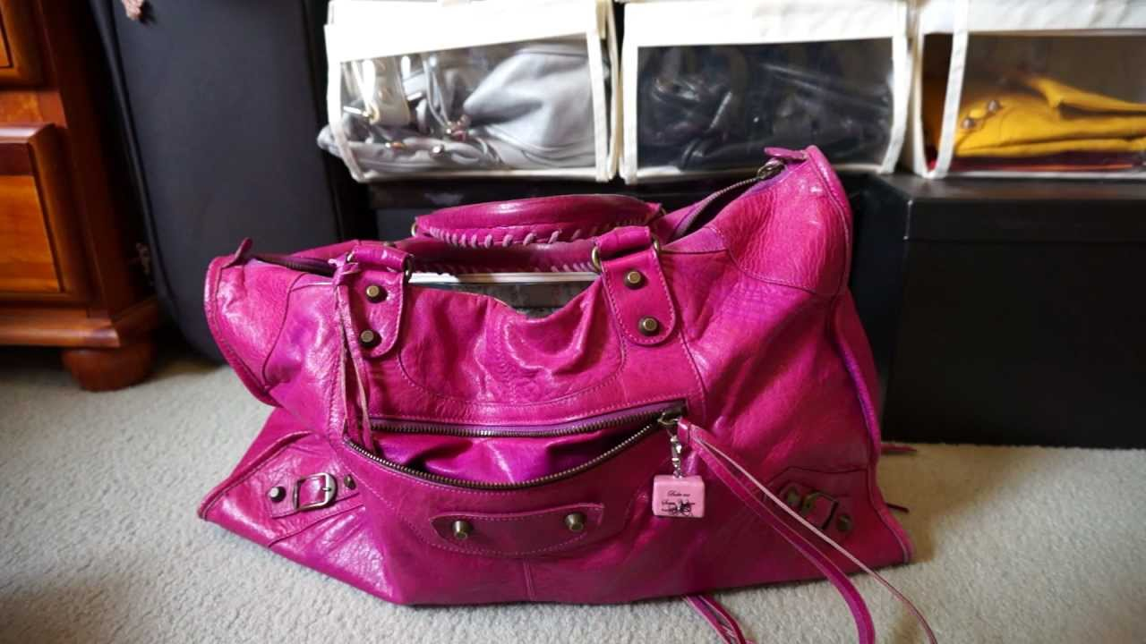 859ebee3744c Review and Contents of Balenciaga Work Bag Magenta 2005 Classic RH - YouTube