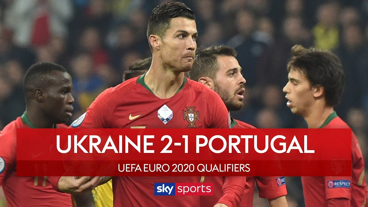 Ronaldo scores 700th goal as Portugal lose | Ukraine 2-1 Portugal | UEFA Euro 2020 Qualifier