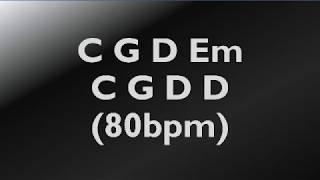 Backing track in G C G Em D80 BPM acoustic