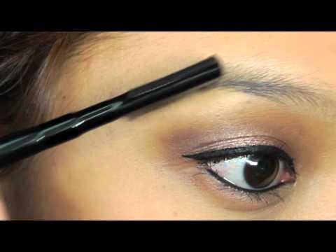 Dunkle Augenbrauen heller schminken ^.^