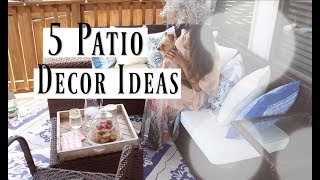 Patio & Deck Makeover & Room Tour  - Patio Decorating Ideas MissLizHeart