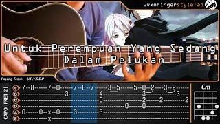 Payung teduh - untuk perempuan yang sedang dalam pelukan fingerstyle tab tutorial & chord gitar, video ini bukan step by melainkan vide...