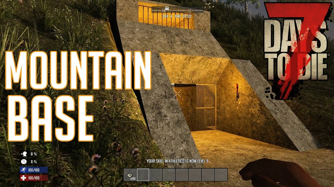 7 Days To Die Mountain Base Walkthrough YouTube