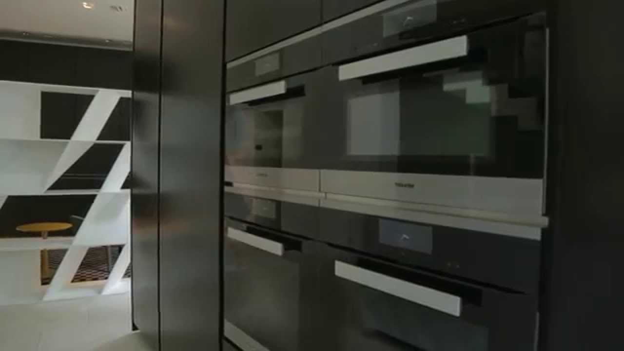 Poliform Kitchen Design.  Sharp by Poliform Varenna design Daniel Libeskind YouTube
