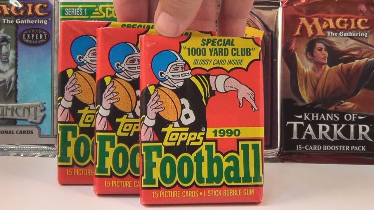1990 Topps Football Cards Wax Packs Opening Packs 4 6 Emmitt Smith Rookie