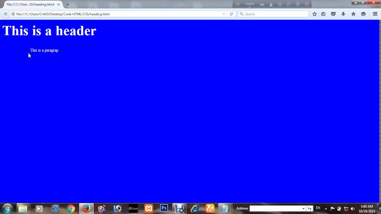 How to change Your Website Pages Background color By Using HTML