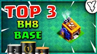 NEW TOP 3 BUILDER HALL 8 BASE LAYOUTS WITH EXTRA WALLS✔✔  | +6000 TROPHIES | TOP 3 BH8 BASES | 2018