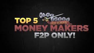 Oldschool Runescape   Top 5 F2P Money Makers