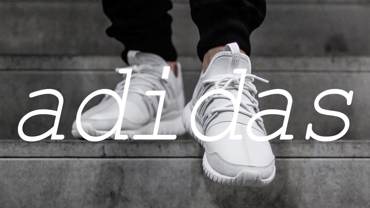 adidas Men's Tubular Radial, LGTGRE/CORE BLACK