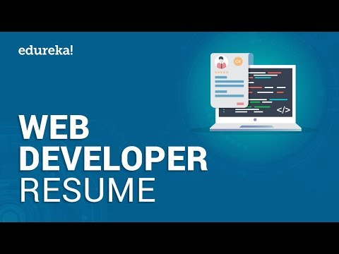 Web Developer Resume | Sample Resume Of A Web Developer | Edureka