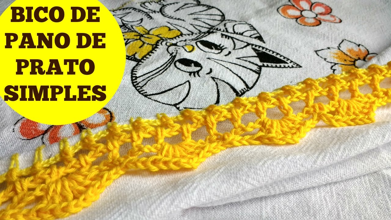 Armarios Homecenter Ibague ~ BICO PARA PANO DE PRATO SUPER FÁCIL #Croch u00ea para iniciantes YouTube
