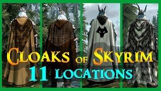 Cloaks of Skyrim - Unique/Rare Cloaks Locations 11 + more [MOD]   ALL 20 (Updated)
