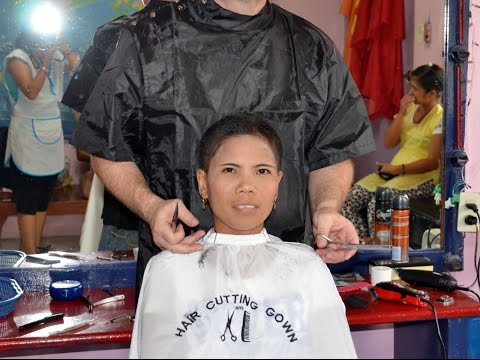 Woman extreme short haircut