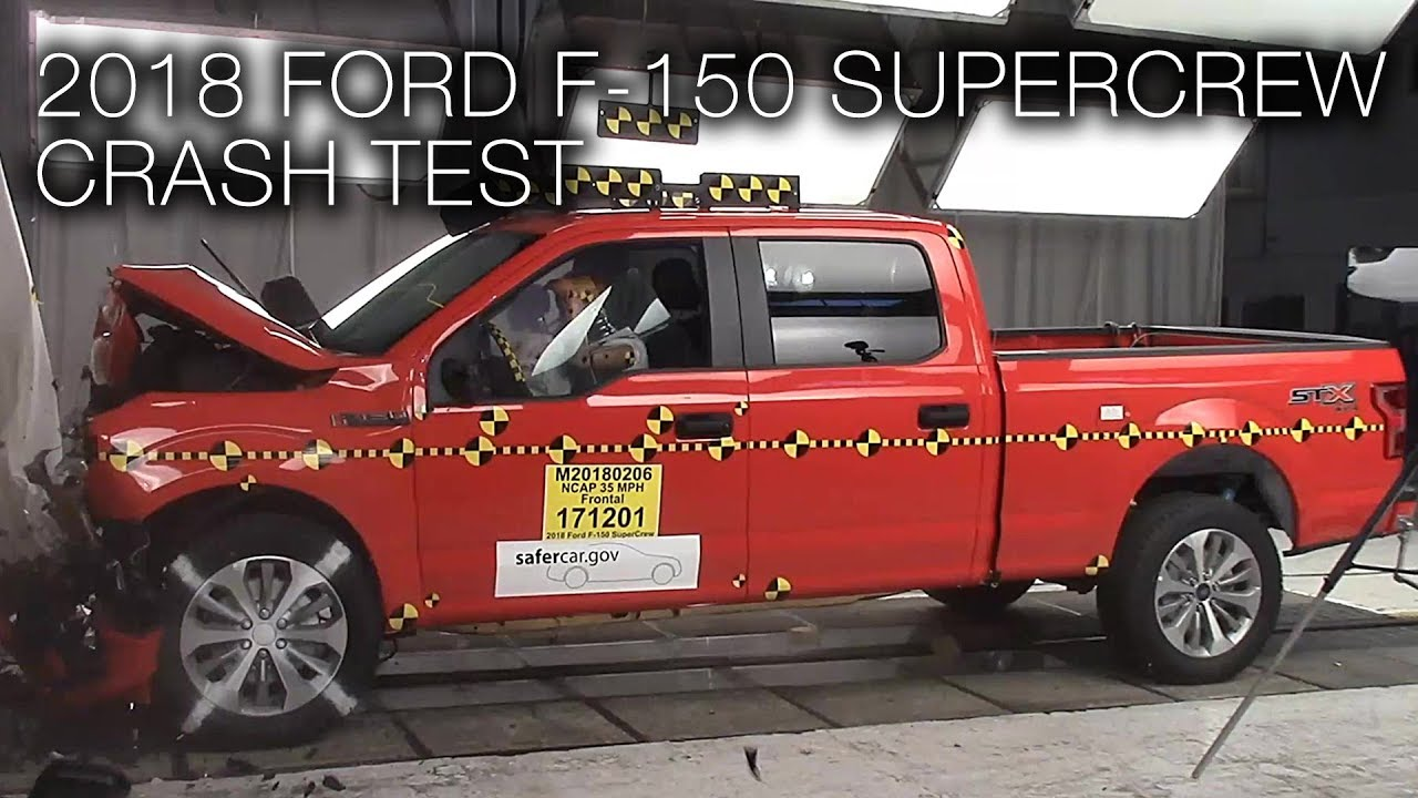 Ford F 150 Supercrew 2018 Frontal Crash Test