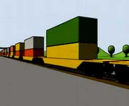 Intermodal Freight - Blender animation