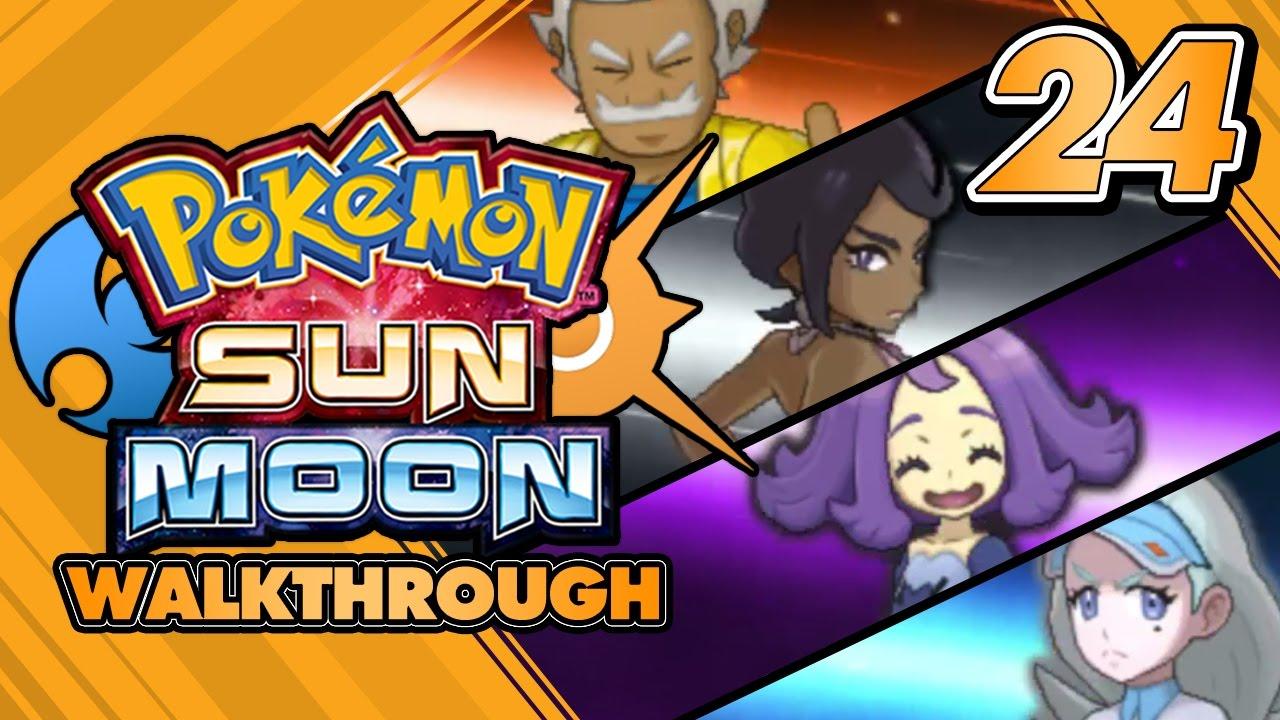 pokémon sun and moon walkthrough part 24 elite four of alola s