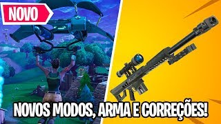 NEW WEAPON, NEW MODES AND BUG FIXED! (NEWS NEW UPDATE) | Fortnite