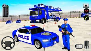 US Police Car Transporter Truck Driving Simulator - Android Gameplay screenshot 2