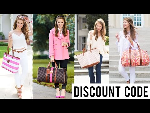 Barrington Bag Collection + DISCOUNT CODE | Preppy Monogrammed Totes & Accessories