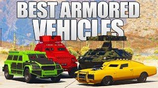 GTA 5 ONLINE - BEST ARMORED & BULLETPROOF CARS AND VEHICLES IN GTA 5 ONLINE! (GTA V)