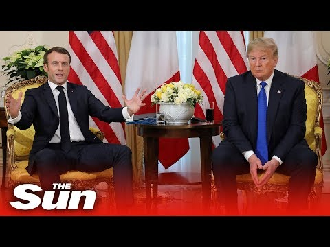 Donald Trump and Emmanuel Macron meet on the sidelines of the NATO Summit | LIVE