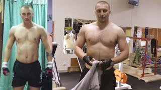 Андрей, 28 лет. Мезоморф. Тренировка в тренажерном зале